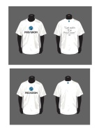 T-shirts with tagline
