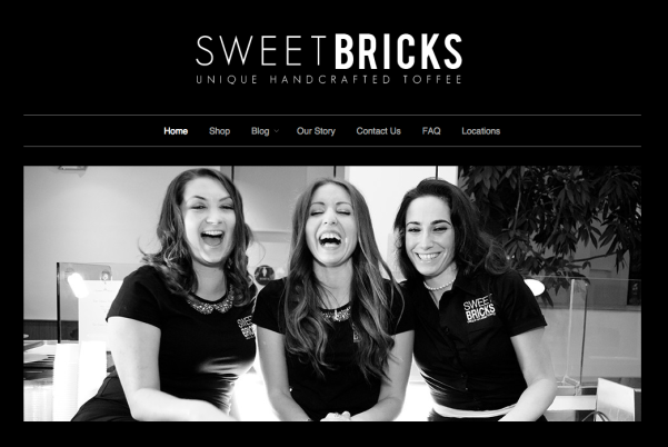 Jena Perez, owner of Sweet Bricks and friends